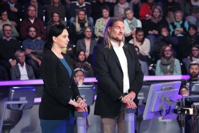 Nadja Sidikjar aus Dresden und Ulrich Büttner aus Konstanz     Achtung! Sperrfrist für alle Medien bis Fr., 13.11.2015, 22:15 Uhr!!!!